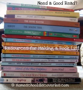Resources for making a book list or reading list