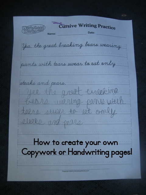 Tech Tuesday: How to Create Your Own Copywork or Handwriting ...