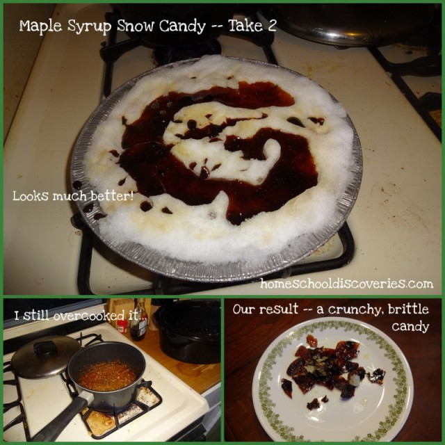 Maple syrup snow candy 2