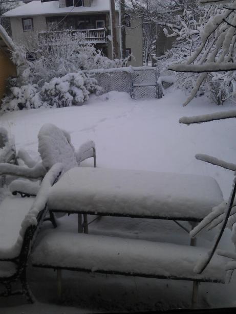 Snowy april 2013