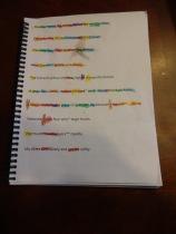 sentence family color coding